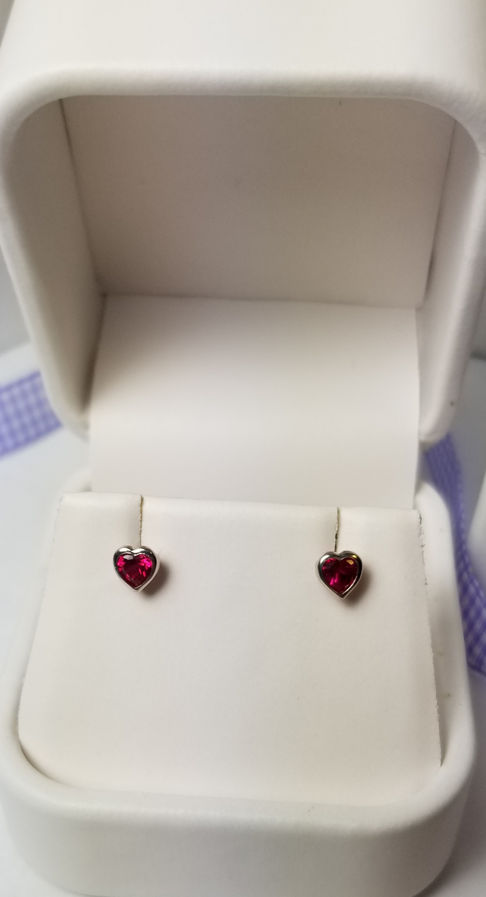 Heart Screw Back Earrings July