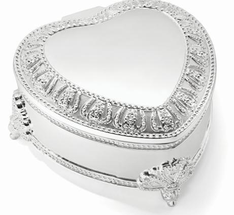 Floral Heart Jewelry Box - TB24